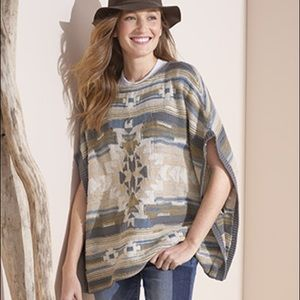 Or is southwest cotton poncho vest one size